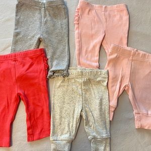 👼5 pairs of 3 month pants by Just One You!